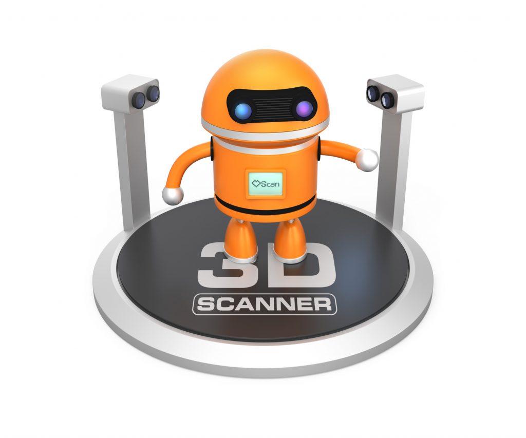 3D scanner scanning robot toy